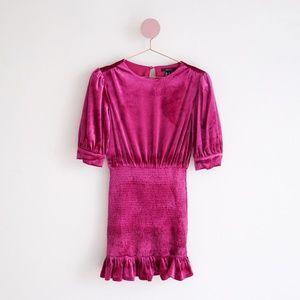 Forever 21 Pink Velvet Dress